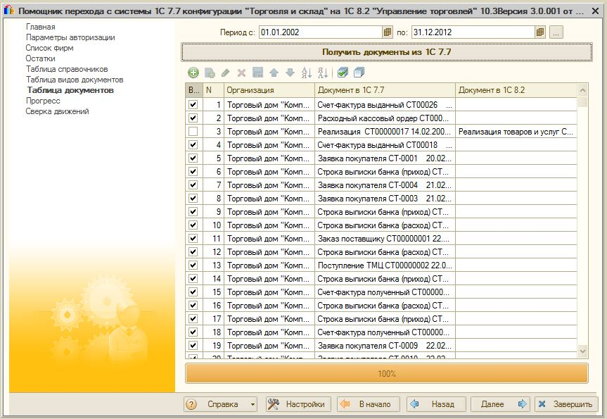 1с бухгалтерия переход с 7.7 на 8.2 только остатки курсы 1с программистов челябинск