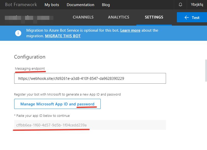 Отправка сообщений в Skype через Microsoft Bot Framework API