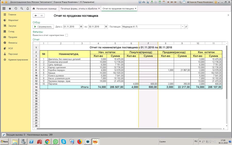 1с розница отчет по продажам поставщика установка 1с сервера sql 2008