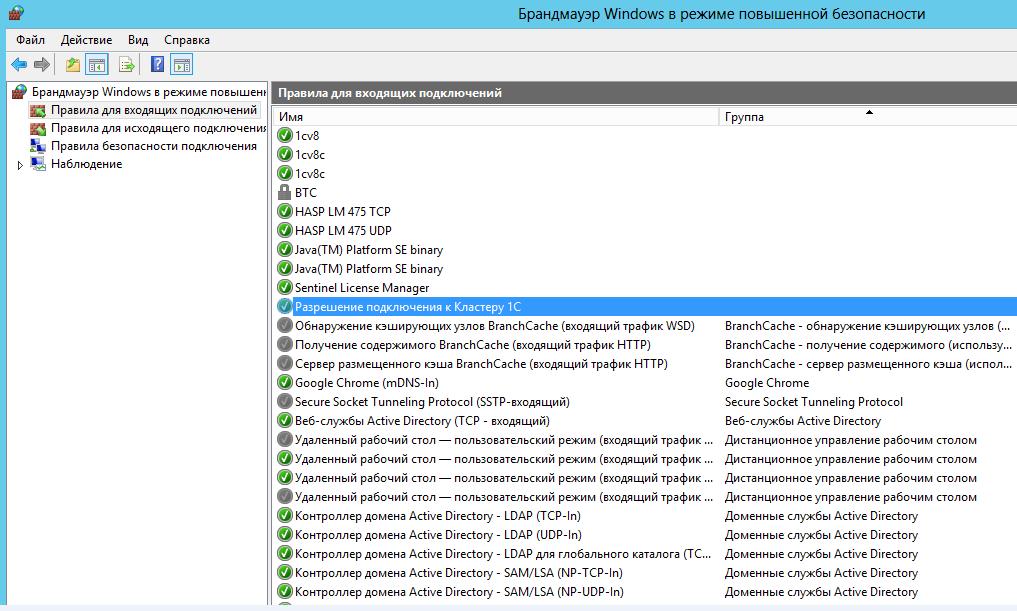 Настройка сетевого доступа к серверу 1с продажа списанного основного средства в 1с