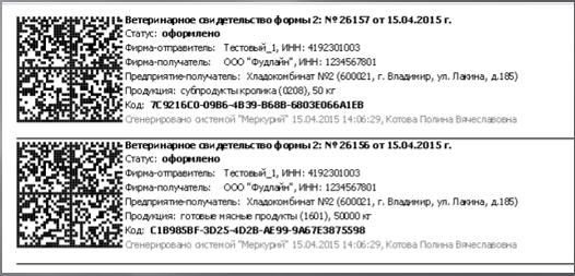 ВСД DataMatrix полная форма