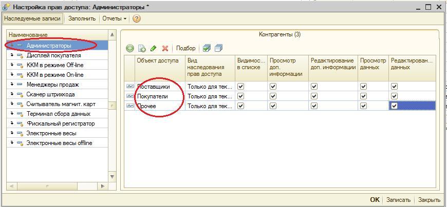 Настройка доступа к справочнику в 1с внедрение упп 1с стоимость
