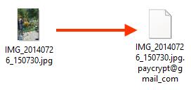 Пример файла до и после работы вируса-шифровальщика