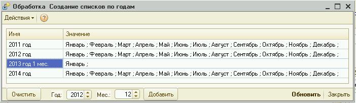 Обработка редактирования списков