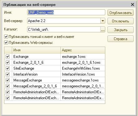 Публикация базы на веб-сервер