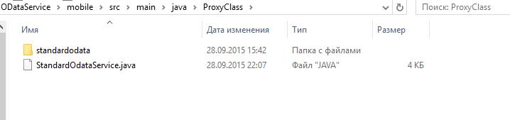 Копируем прокси класс в проект