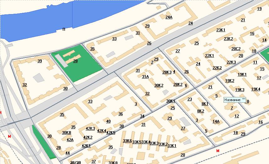 Географическая схема Москвы