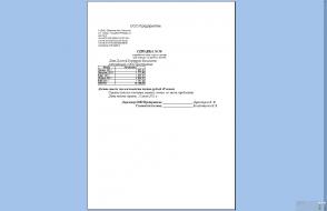 Справка о доходах образец для субсидии