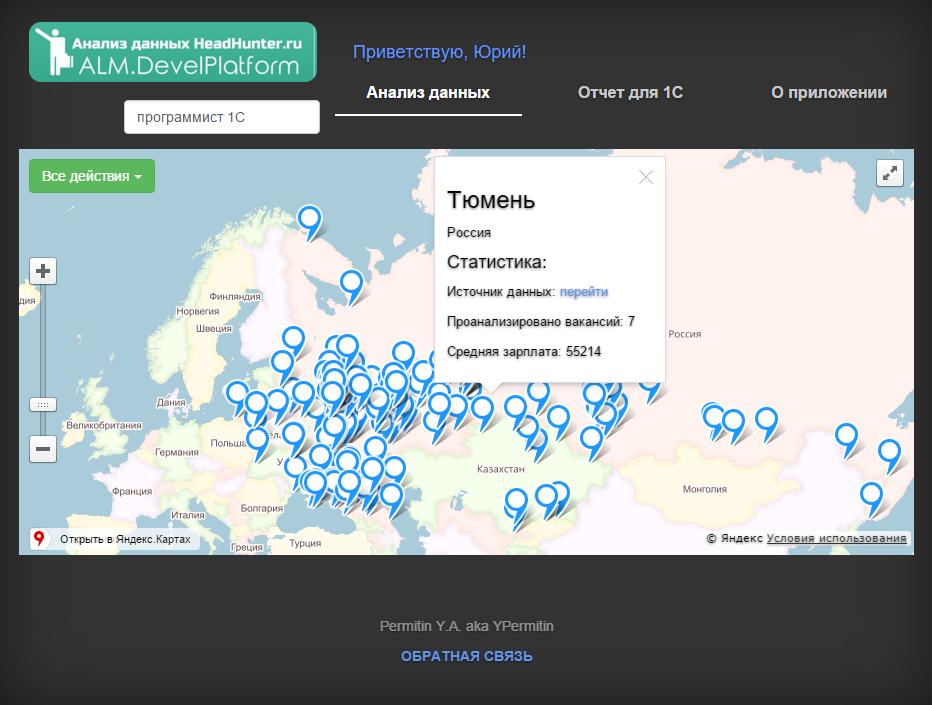"""Веб-версия приложения """"Анализ данных HH.ru"""""""