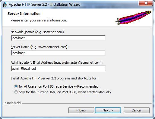 Установка веб-сервера Apache