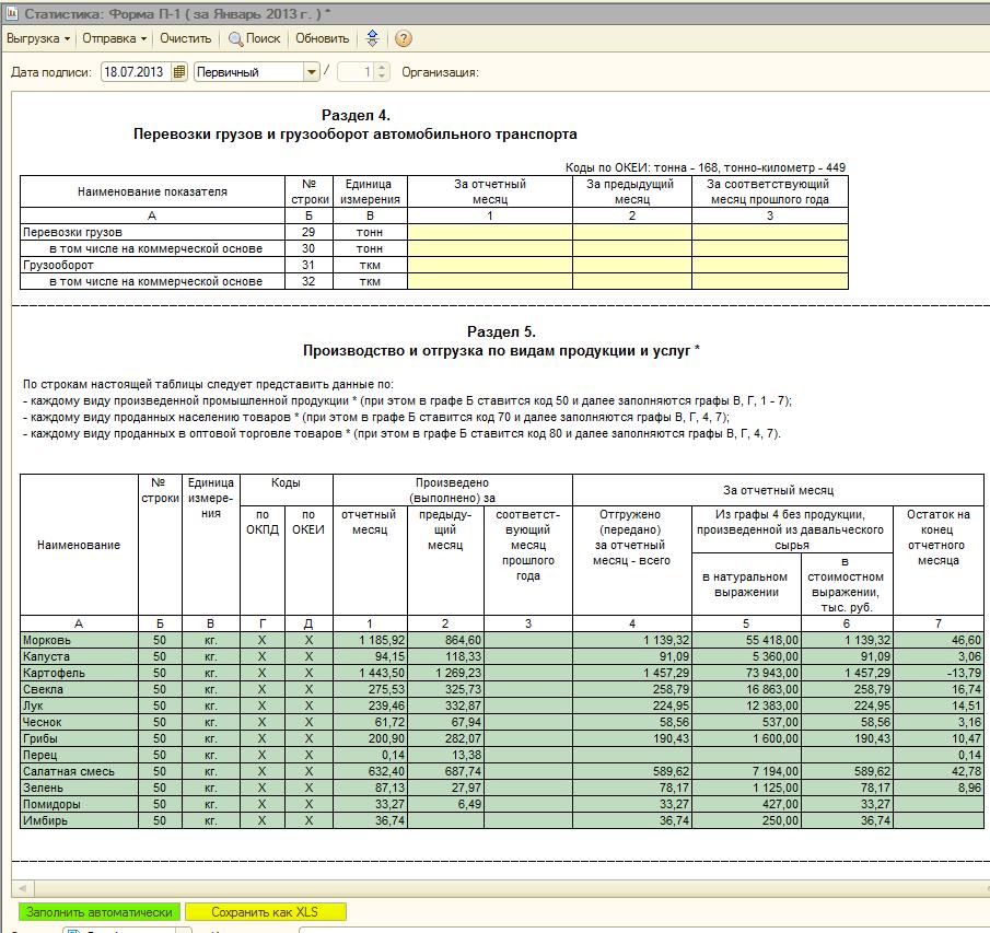 Инструкция по заполнению Формы П-1 Статистика 2015