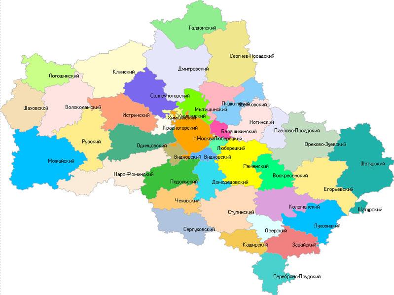схема Московской области